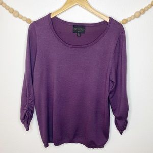 Absolutely Creative Worldwide Plum Purple Blouse